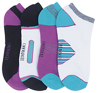 Cherokee 1-4pr packs of No Show Socks Assorted Assorted (MAKEAMOVE-AST)