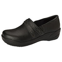 Anywear Footwear Leather Step In Black (MARIAH-BLK)