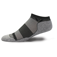 Swiftwick 1 Pair Pack No Show Sock Graphite/Grey (MAXUSZERO-030Z)
