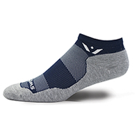 Swiftwick 1 Pair Pack No Show Sock Midnight/Grey (MAXUSZERO-060Z)