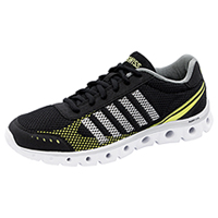 K-Swiss Athletic with foam insoles Black/ Charcoal/ Optic Yellow (MCMFXLITE-BCY)
