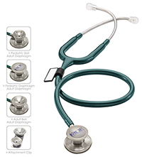 MDF MDF MD One Epoch Titanium Stethoscope Emerald Green (MDF777DT-21)