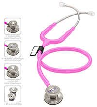 MDF MDF MD One Epoch Titanium Stethoscope ThinkPink (Fuschia) (MDF777DT-32)
