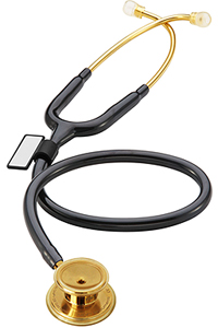 MDF MDF MD One Stainless Steel Stethoscope Gold/NoirNoir (MDF777-K11)