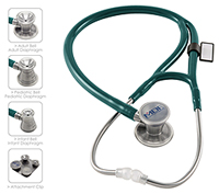 MDF MDF ProCardial C3 Titanium Stethoscope Emerald Green (MDF797CCT-21)