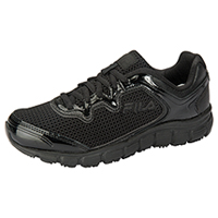 Fila USA SR Mesh/Overlay Athletic Black,Black,MetallicSilver (MEMORYFRESH-F010)