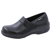 Cherokee Workwear Footwear - Leather Step In Black Wide (NOLA-BLZ)