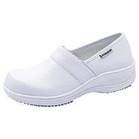 Cherokee Workwear Footwear - Leather Step In White (NOLA-WHT)