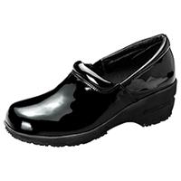 Cherokee SR Fashion Leather Step In Footwear Black Patent (PATRICIA-BKPZ)