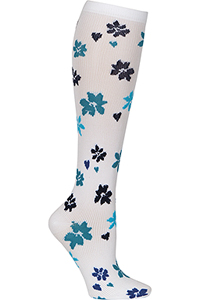 Cherokee 1 Pair Pack 12 mmHg Support Socks Flower Around (PRINTSUPPORT-FLRAR)