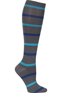 Cherokee 1 Pair Pack 12 mmHg Support Socks Heathered Blues (PRINTSUPPORT-HTBLS)