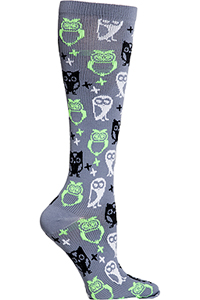 Cherokee 1 Pair Pack 12 mmHg Support Socks Night Owl (PRINTSUPPORT-NTOW)