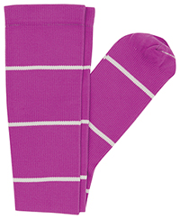 Cherokee 1 Pair Pack 12 mmHg Support Socks Power Berry Stripes (PRINTSUPPORT-PWBRS)
