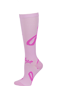 Cherokee 1 Pair Pack 12 mmHg Support Socks Ribbons For Hope (PRINTSUPPORT-RFHP)