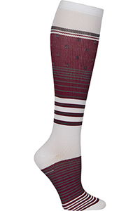 Cherokee 1 Pair Pack 12 mmHg Support Socks Up Beet Mix (PRINTSUPPORT-UPBTM)