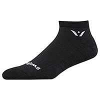 Swiftwick 1 Pair Pack No Show Sock Black (PURSUITZERO-01Z)