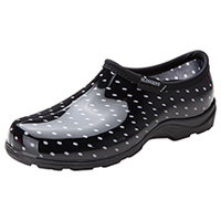 Sloggers Synthetic Clog Black/White Polka Dots (SL5100-BPD)