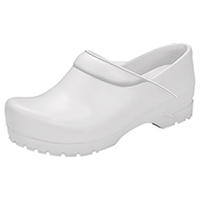 Anywear Closed Back Plastic Clog White (SRANGEL-WHT)