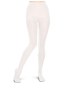 10-15 mmHg Opaque Tights (TF309-WHT)