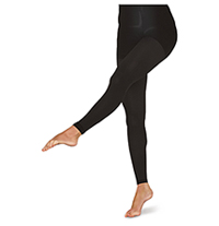 Therafirm 10-15 mmHg Footless Opaque Tights Black (TF371-BLK)