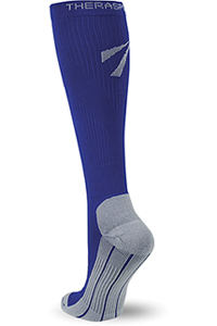Therafirm 15-20 mmHg Knee High Recovery Sock Blue (TF374-BLUE)