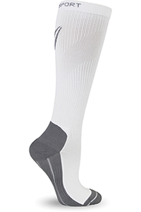 Therafirm 15-20 mmHg Knee High Recovery Sock White (TF374-WHT)