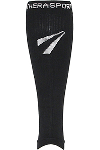 Therafirm 15-20 mmHg Compression Leg Sleeve Black (TF674-BLK)