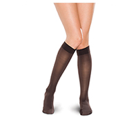 Therafirm 15-20 mmHg Knee High Sheer Black (TF681-BLK)