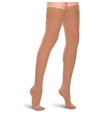 15-20 mmHg Thigh High Lace Top (TF684-BRNZ)