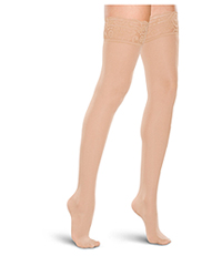 Therafirm 15-20 mmHg Thigh High Lace Top NATURAL (TF684-NAT)