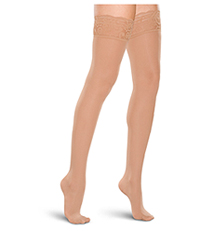 Therafirm 15-20 mmHg Thigh High Lace Top Sand (TF684-SAND)