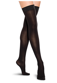 Therafirm 20-30 mmHg Thigh High Closed Toe Black (TF742-BLK)