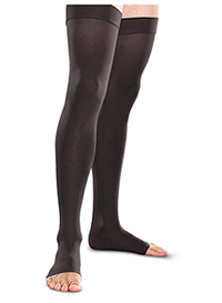 Therafirm 30-40 mmHg Thigh High Open Toe Black (TF768-BLK)
