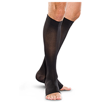 Therafirm 20-30 mmHg Knee-High Open Toe Black (TF773-BLK)