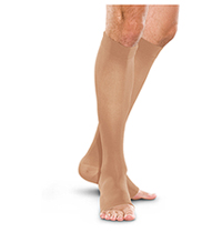 20-30 mmHg Knee-High Open Toe (TF773-SAND)