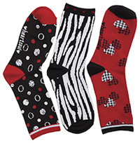 HeartSoul 1-3pr pk of Crew Socks Assorted (THENEWCLASSIC-AST)