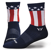 Swiftwick 1 Pair Pack Quarter Calf Sock American Pride (VISIONFIVE-18ZZ)