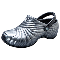 Dickies Injected Clog w/ backstrap Chrome Grey (ZIGZAG-SLV)