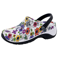 Anywear Anywear Injected Clog w/Backstrap Float Away Flowers (ZONE-FAWA)