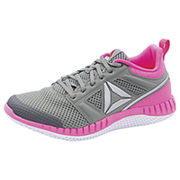 Reebok Athletic Footwear Grey, Poison Pink, and Silver (ZPRINTPRO-GPSW)