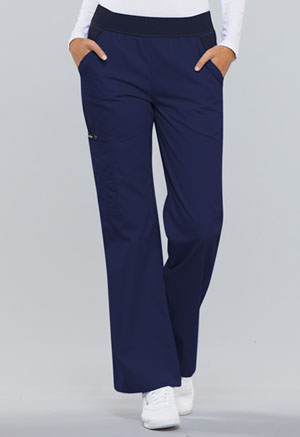 Cherokee Mid Rise Knit Waist Pull-On Pant Navy (1031-NVYB)