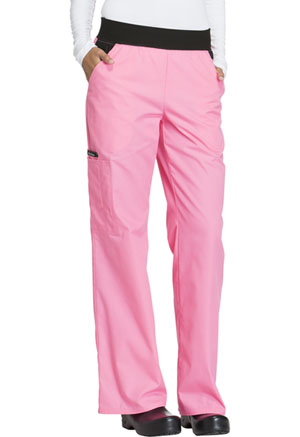Cherokee Cherokee Flexibles Women's Mid Rise Knit Waist Pull-On Pant Pink