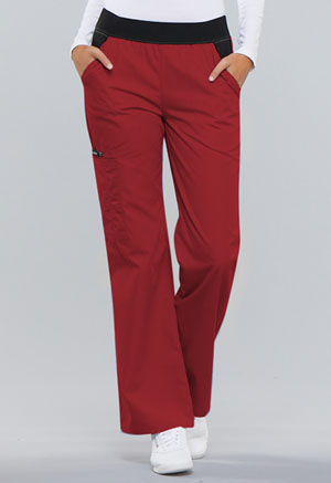 Cherokee Mid Rise Knit Waist Pull-On Pant Red (1031-REDB)