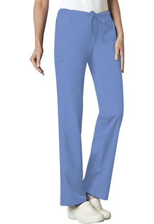 Cherokee Cherokee Luxe Women's Low Rise Straight Leg Drawstring Pant Blue