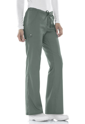 Cherokee Cherokee Luxe Women's Low Rise Straight Leg Drawstring Pant Green