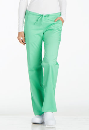 Cherokee Low Rise Straight Leg Drawstring Pant Spectra Green (1066-SPCT)