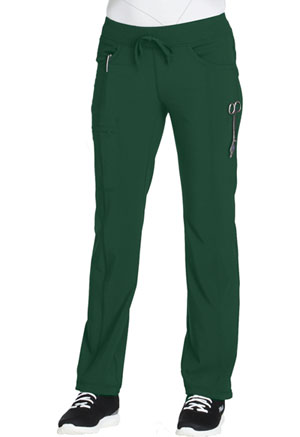 Cherokee Straight Leg Drawstring Pant Hunter Green (1123A-HNPS)