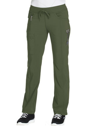 Cherokee Low Rise Straight Leg Drawstring Pant Olive (1123A-OLPS)