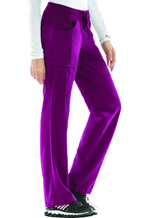 Cherokee Low Rise Straight Leg Drawstring Pant Wine (1123A-WNPS)