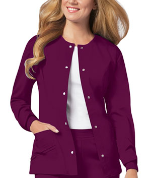 Cherokee Snap Front Warm-Up Jacket Wine (1330-WINV)